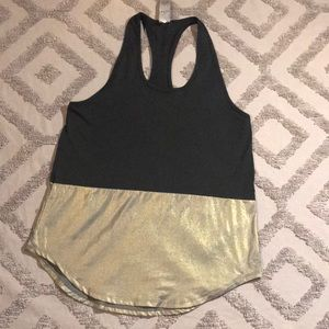 Champion Metallic Gold and Black Tank